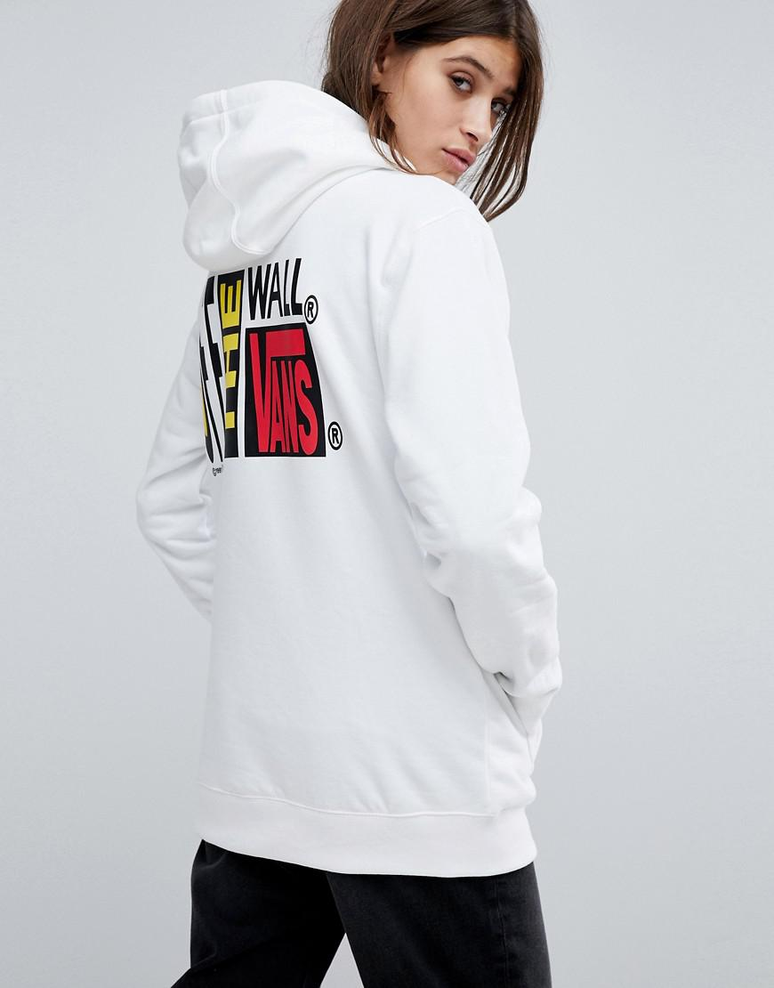 vans off the wall oversized hoodie in beige