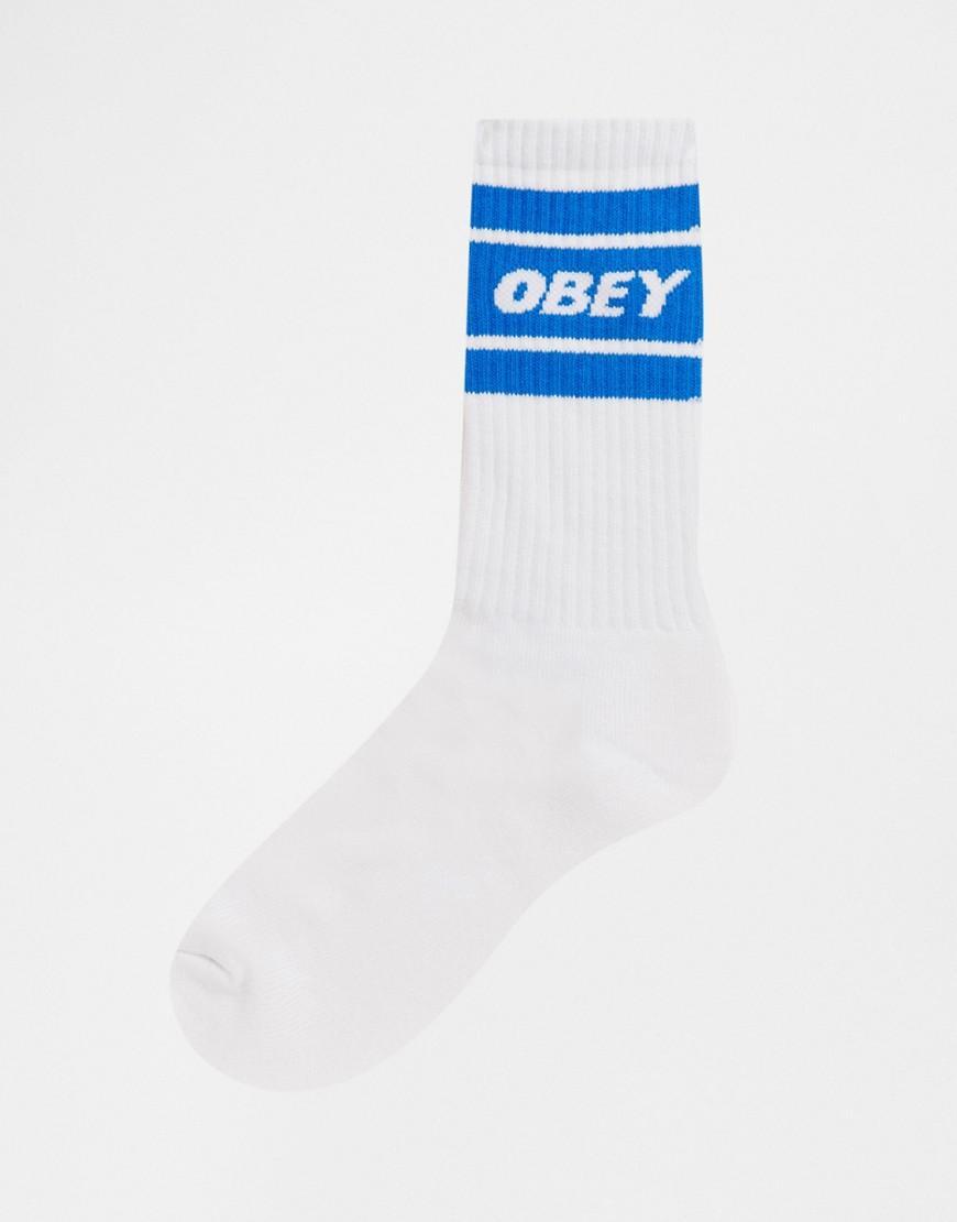 Obey Canvas Cooper Ii - Sokken Met Blauwe Rand Met Branding in het Wit voor heren