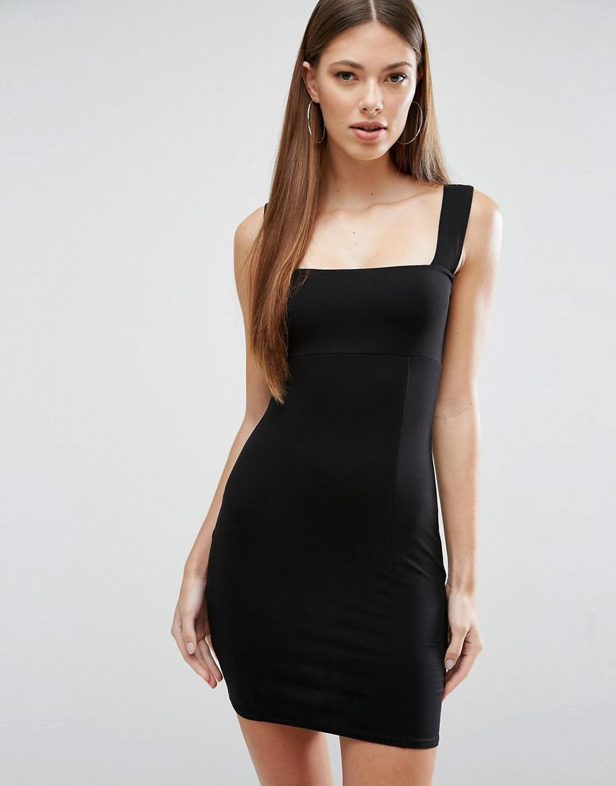 From wish black bodycon dress thin straps and boots