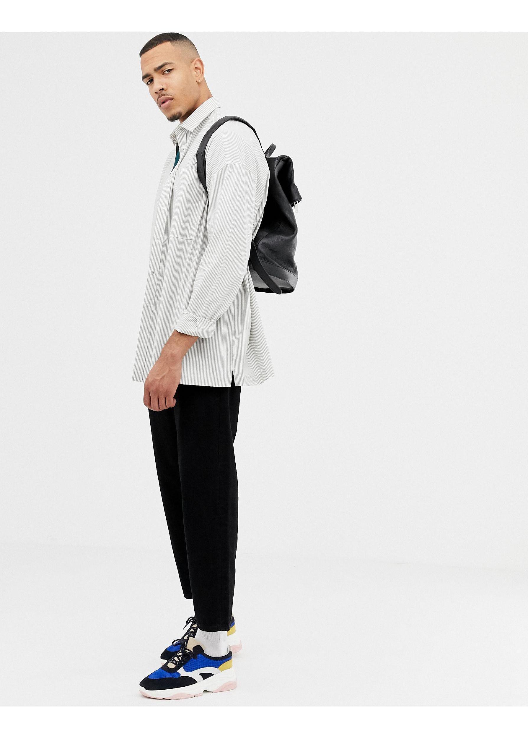 ASOS Katoen Tall - Oversized Overhemd in het Grijs voor heren