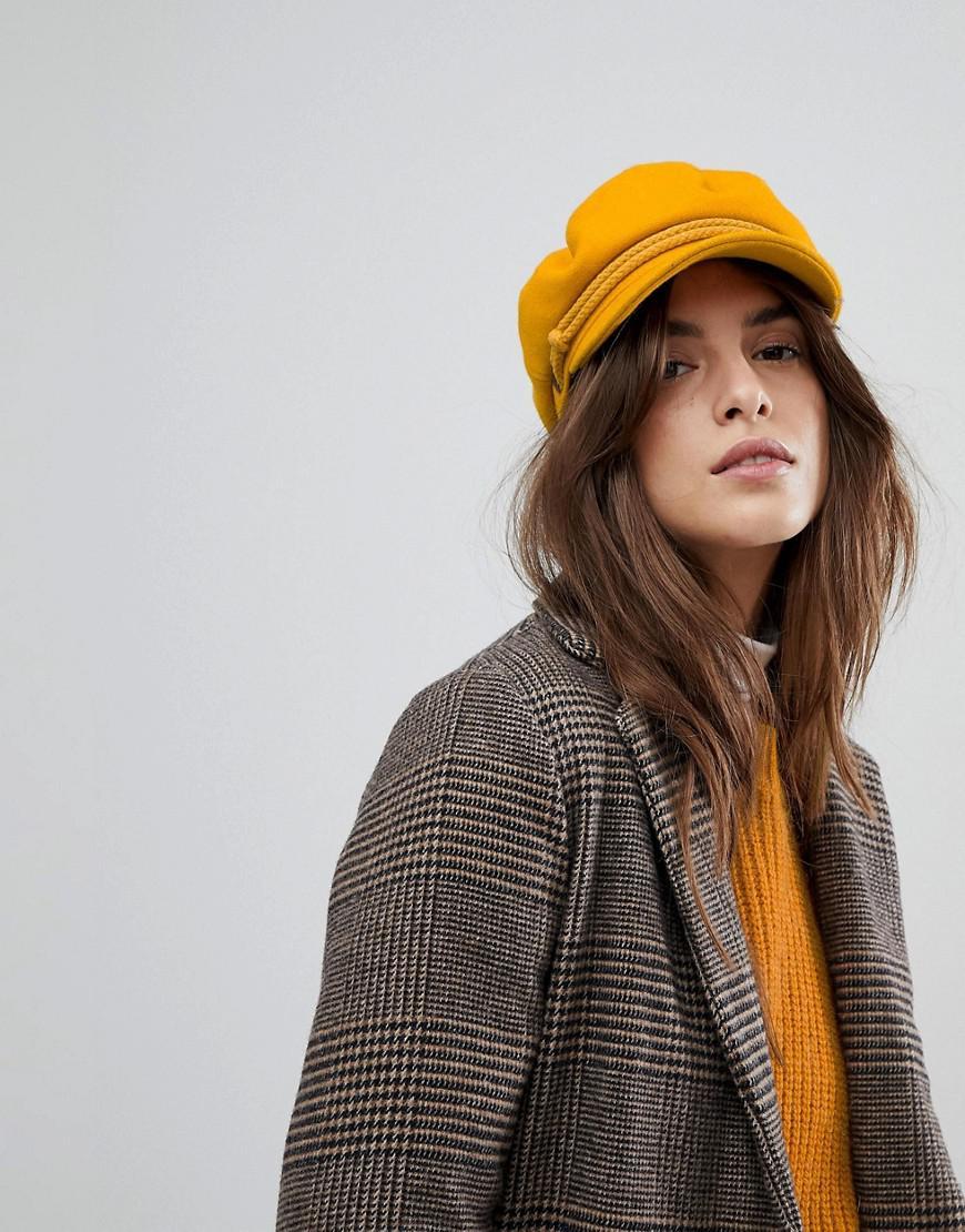 ae6632d36 Brixton Baker Boy Hat In Mustard in Yellow - Lyst