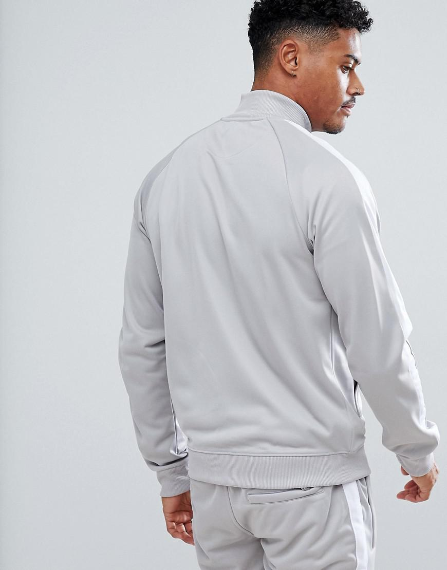 Good For Nothing Synthetic Track Jacket In Grey in Grey for Men