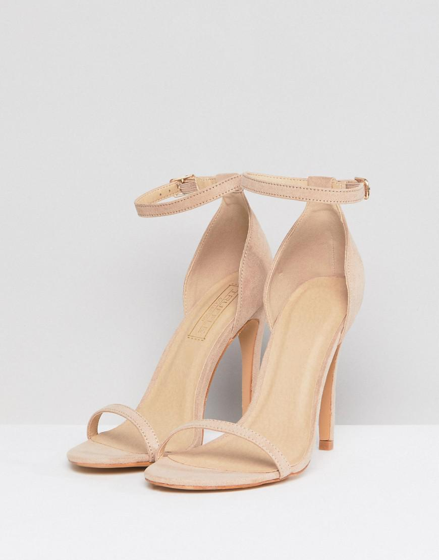 6bb82a694ef8 Truffle Collection Barely There Sandal in Natural - Save 60% - Lyst