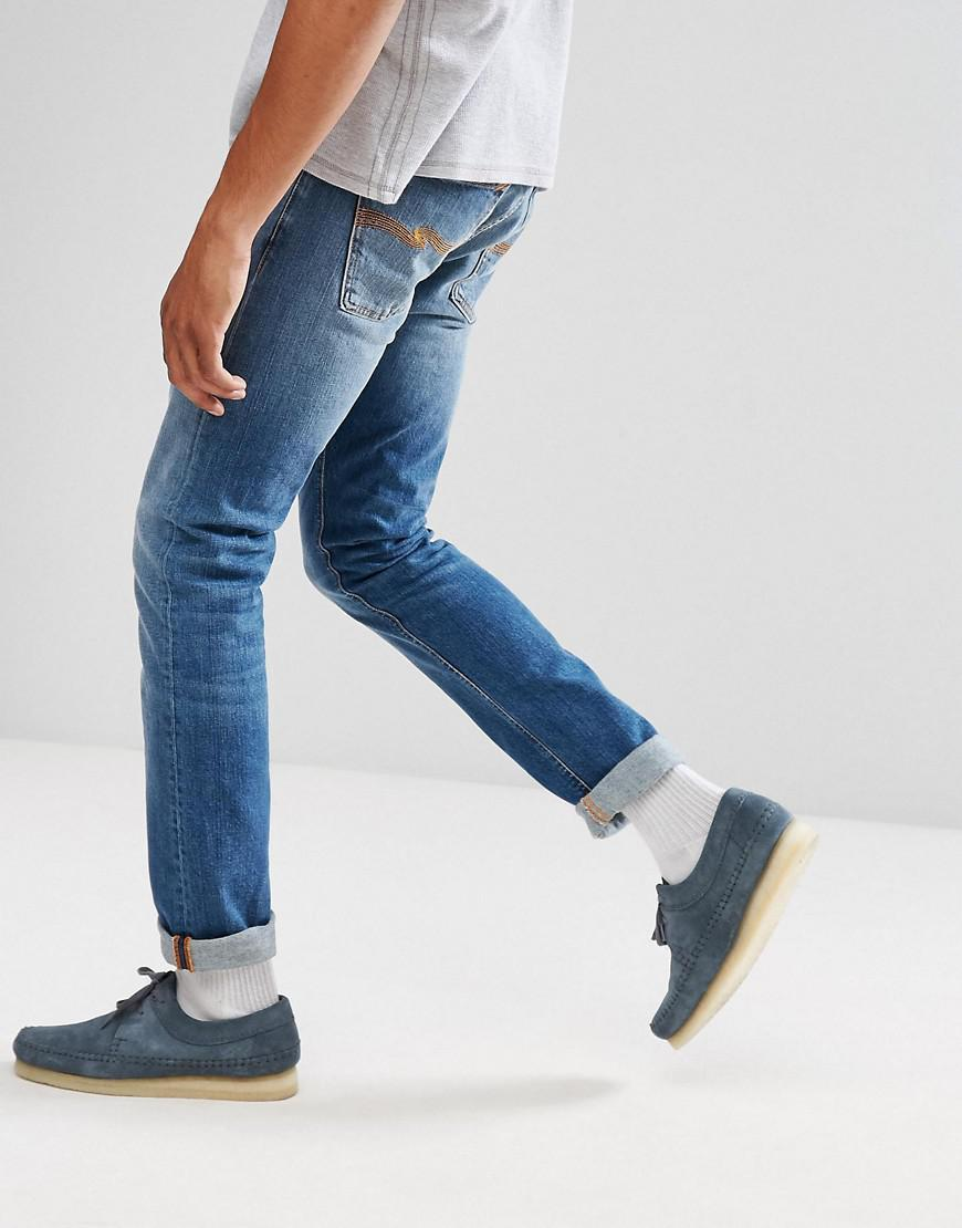Nudie Jeans Denim Co Tilted Tor Skinny Fit Jean Crispy Air Wash in Blue for Men