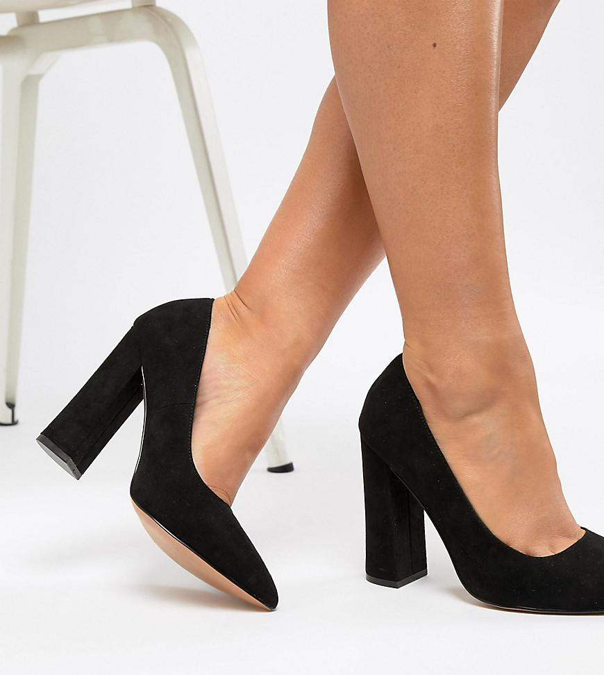 71db9fecf125 Asos Wide Fit Palmer Pointed High Heeled Court Shoes In Black in ...
