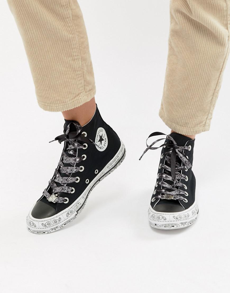 566975658eb5 Converse X Miley Cyrus Chuck Taylor All Star Hi Trainers In Black ...