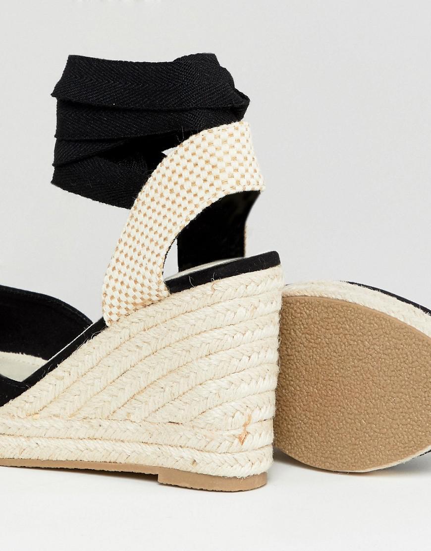 migliori scarpe da ginnastica c156d 11ea5 Espadrilles compensées Jean Pimkie en coloris Noir - Lyst