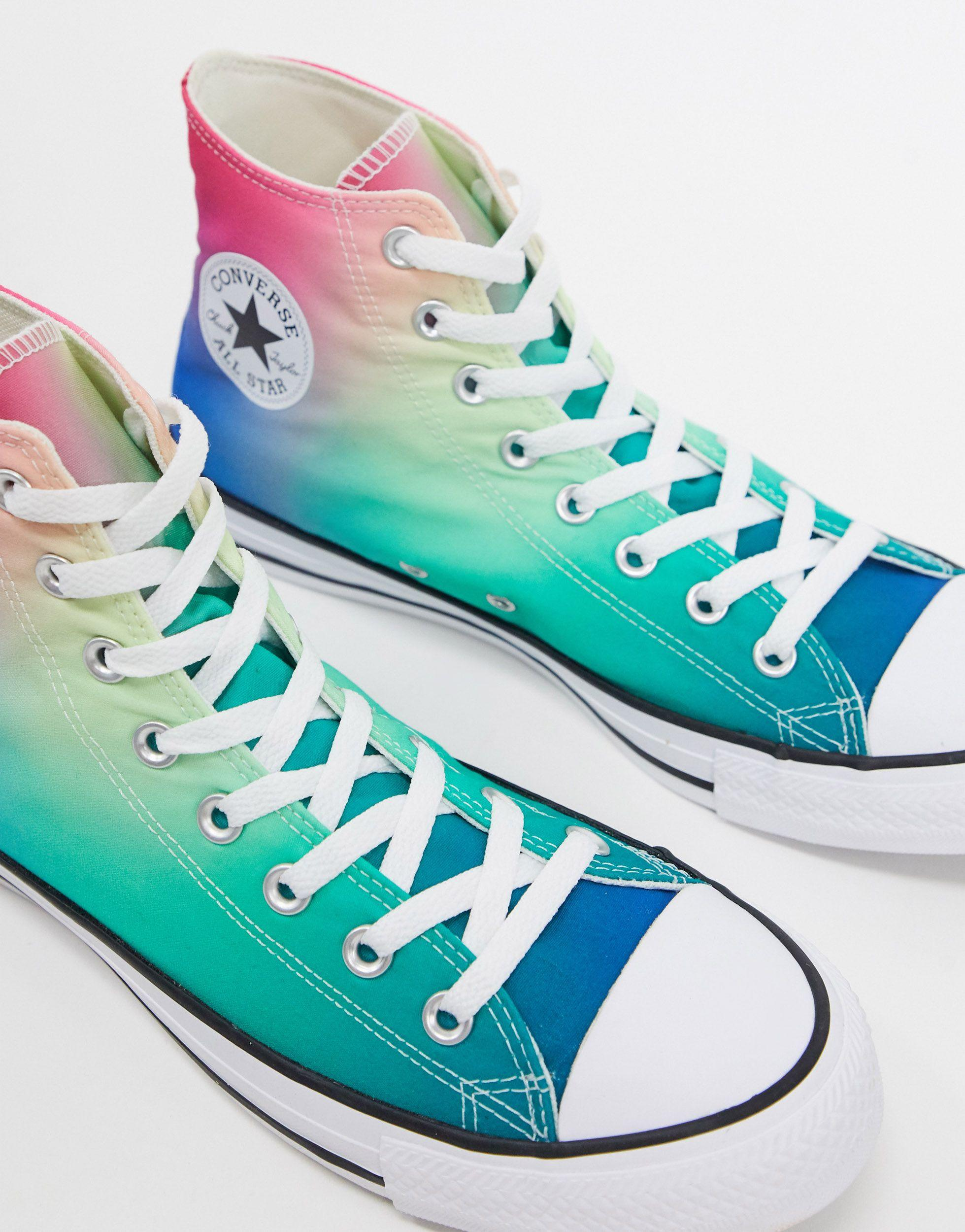 Converse Chuck Taylor All Star Hi Ombre Sneakers in Blue - Lyst