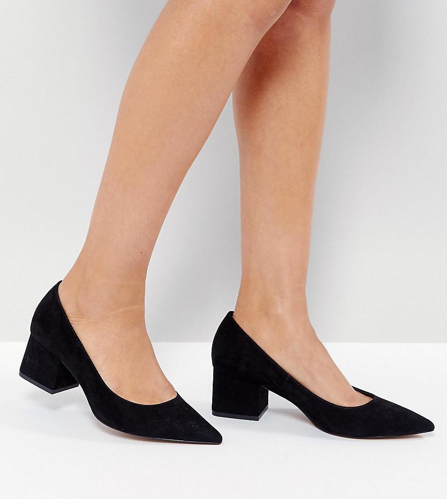 SIMPLY Wide Fit Block Mid Heels - Black Asos 2j7JMyK5G