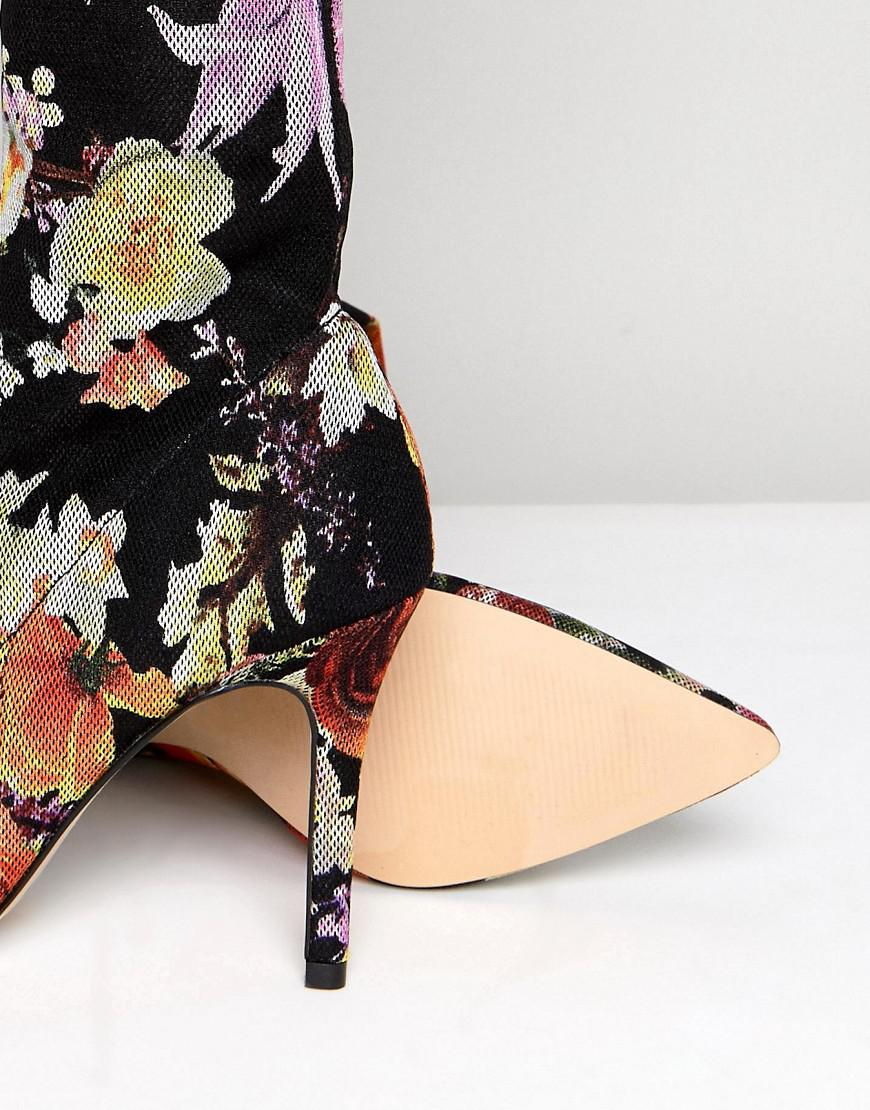 Miss Selfridge Floral Print Over The Knee Boots othFdY