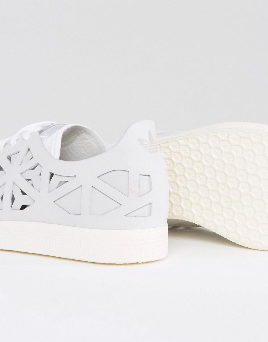 adidas originals white gazelle cutout