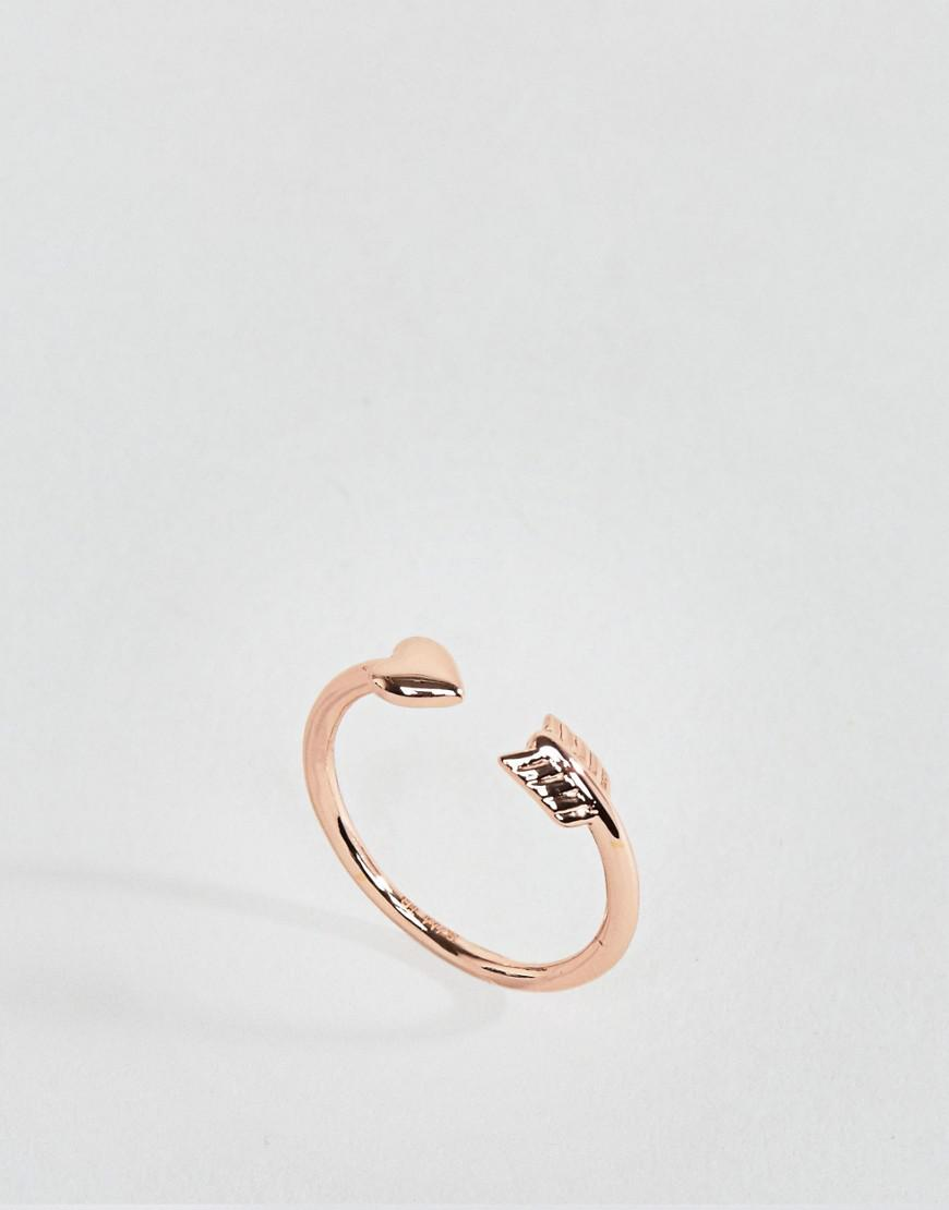 Ted Baker. Women's Metallic Cupids Arrow Ring