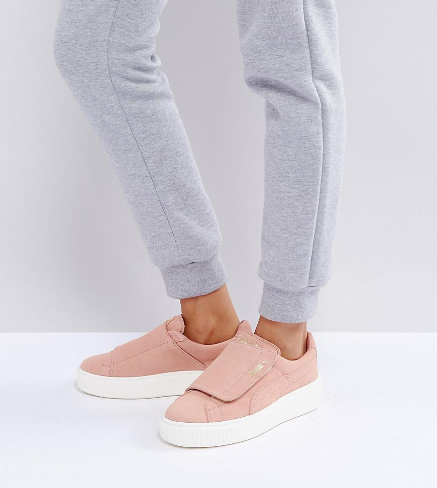 Fznwpxf Sneakers Phil Platform Strap Suede Pink In Puma Lyst tSwag0Tq