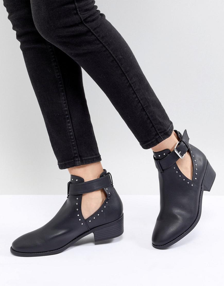 ASOS DESIGN Premium leather elka western ankle boots 9yQH4pAau