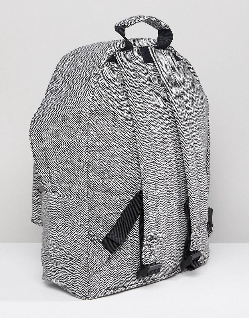 Mi-Pac Herringbone Backpack In Grey in Grey for Men