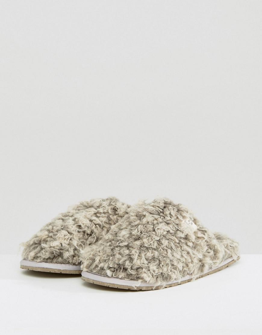 e932b2313a5a Lyst - Bedroom Athletics Nelly Bobble Fur Mule in Gray
