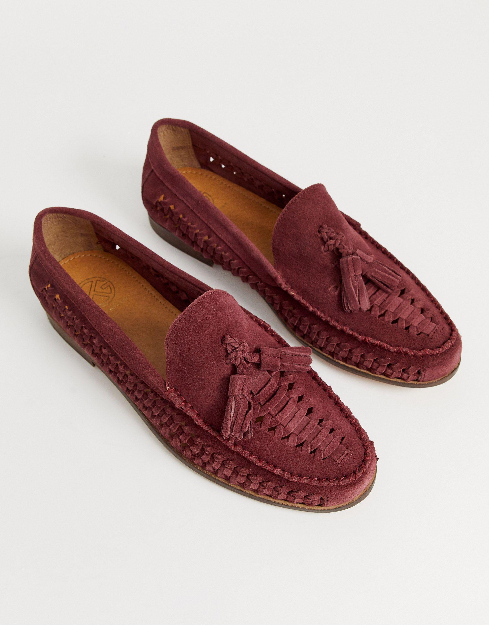 Zapatos tejidos KG by Kurt Geiger de Ante de color Rojo para hombre
