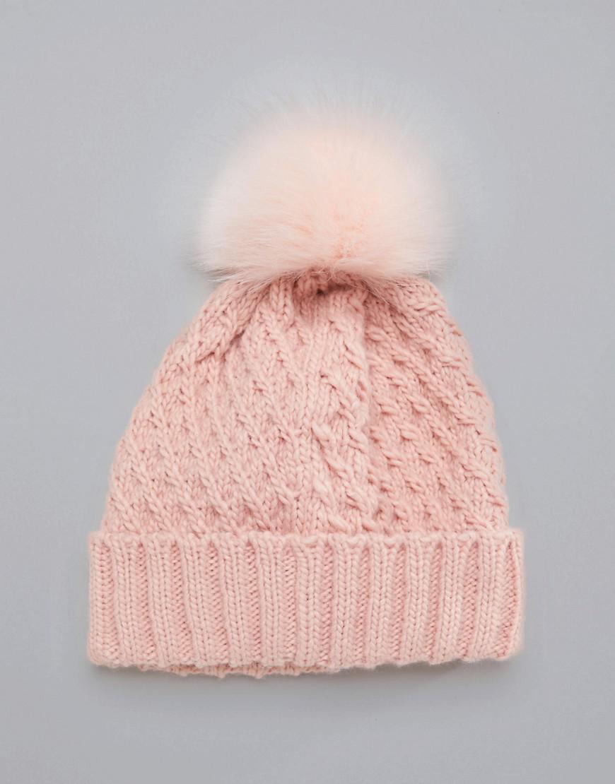 68ca7e576cd Lyst - Roxy Blizzard Beanie Hat In Pink in Pink