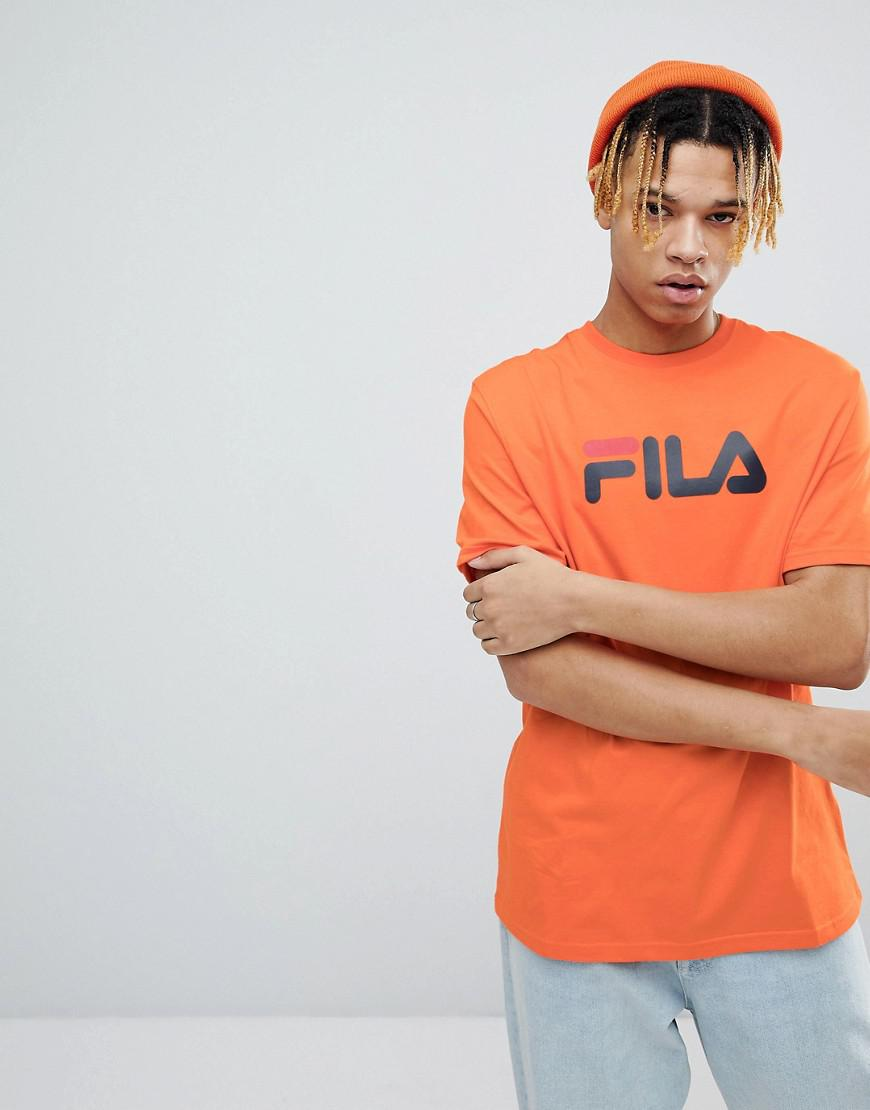 59f7b43c1236 Fila Black Line T-shirt With Retro Logo In Orange in Orange for Men ...