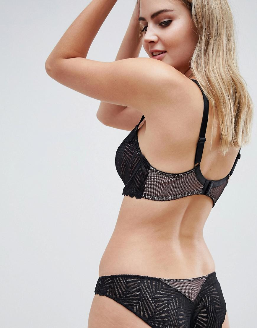 Freya Womens Escape Lace Padded Underwire Half Cup Bra
