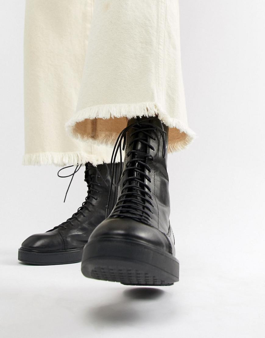 Vagabond Diane Lace Up Black Leather