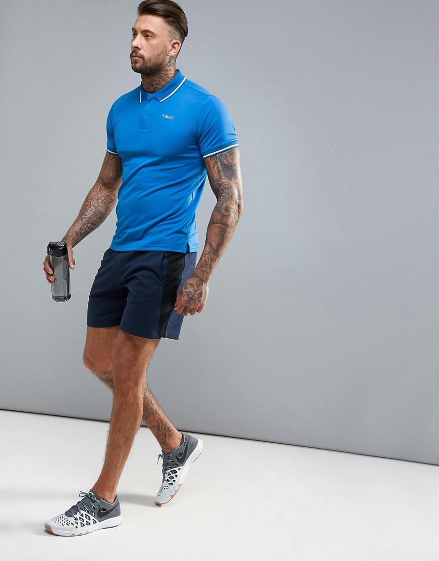 Jack & Jones Synthetic Tech Sports Polo Shirt in Blue for Men