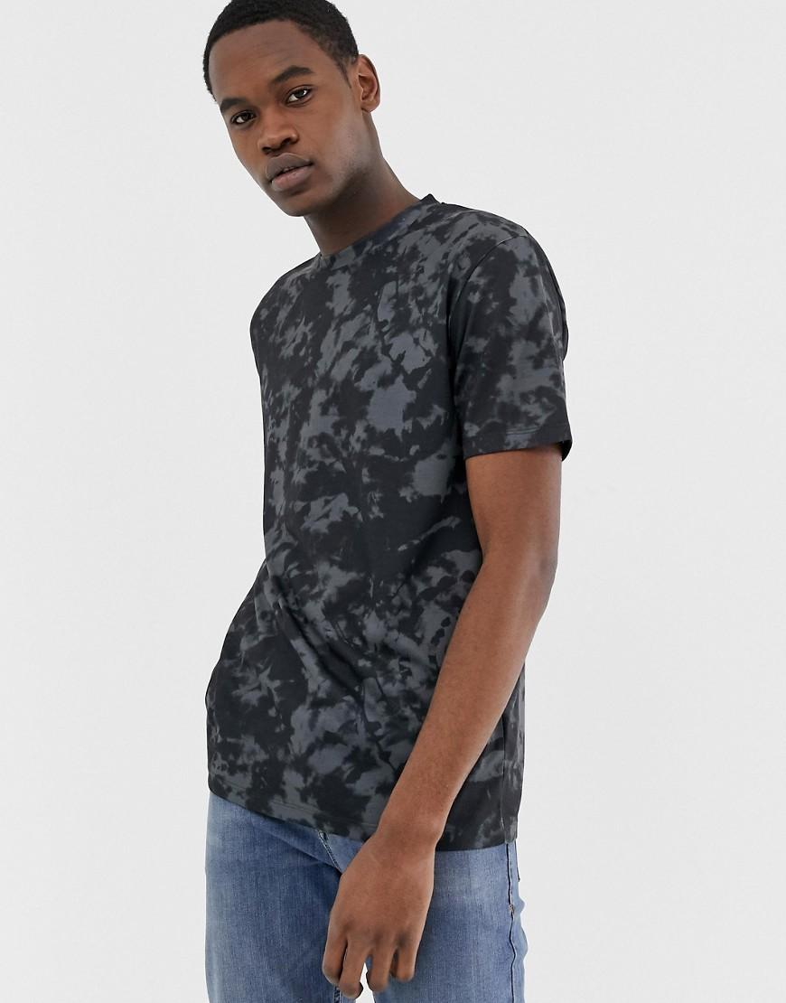 25ebdec86 Lyst - ASOS Tall Relaxed T-shirt With Tie Dye Effect And Back Dragon Print  in Black for Men