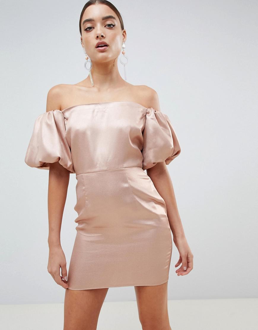 Bouffantes Robe Missguided Manches Metallic En Coloris 5FucTl13KJ