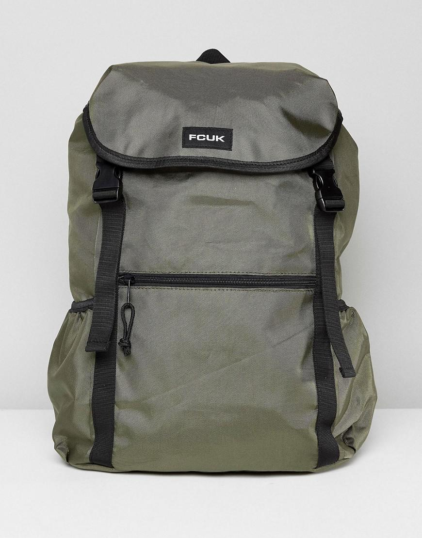 da06bf0803 French Connection Nylon Backpack In Khaki in Green for Men - Lyst
