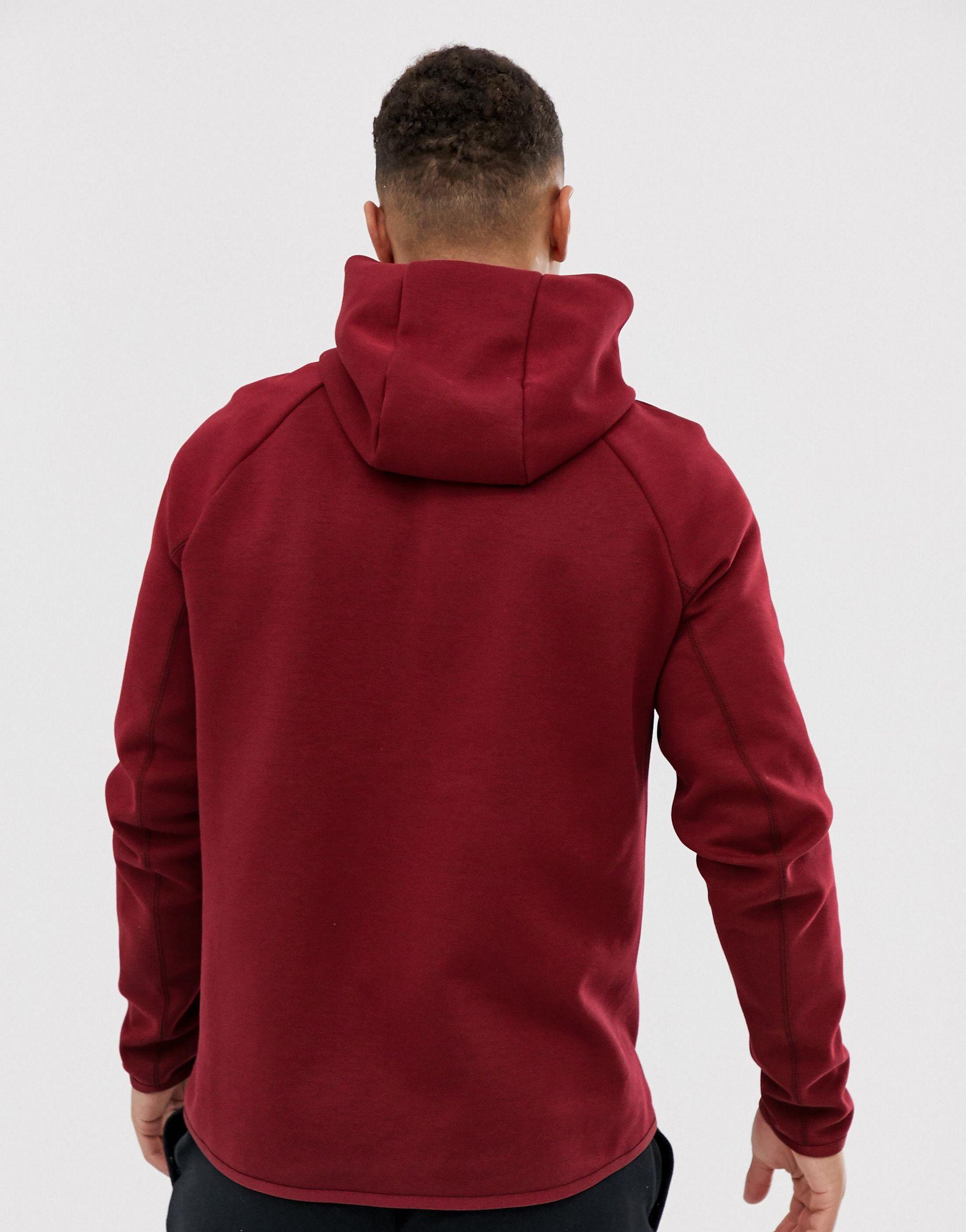 Nike Tech Fleece Hoodie Burgundy In Red For Men Lyst