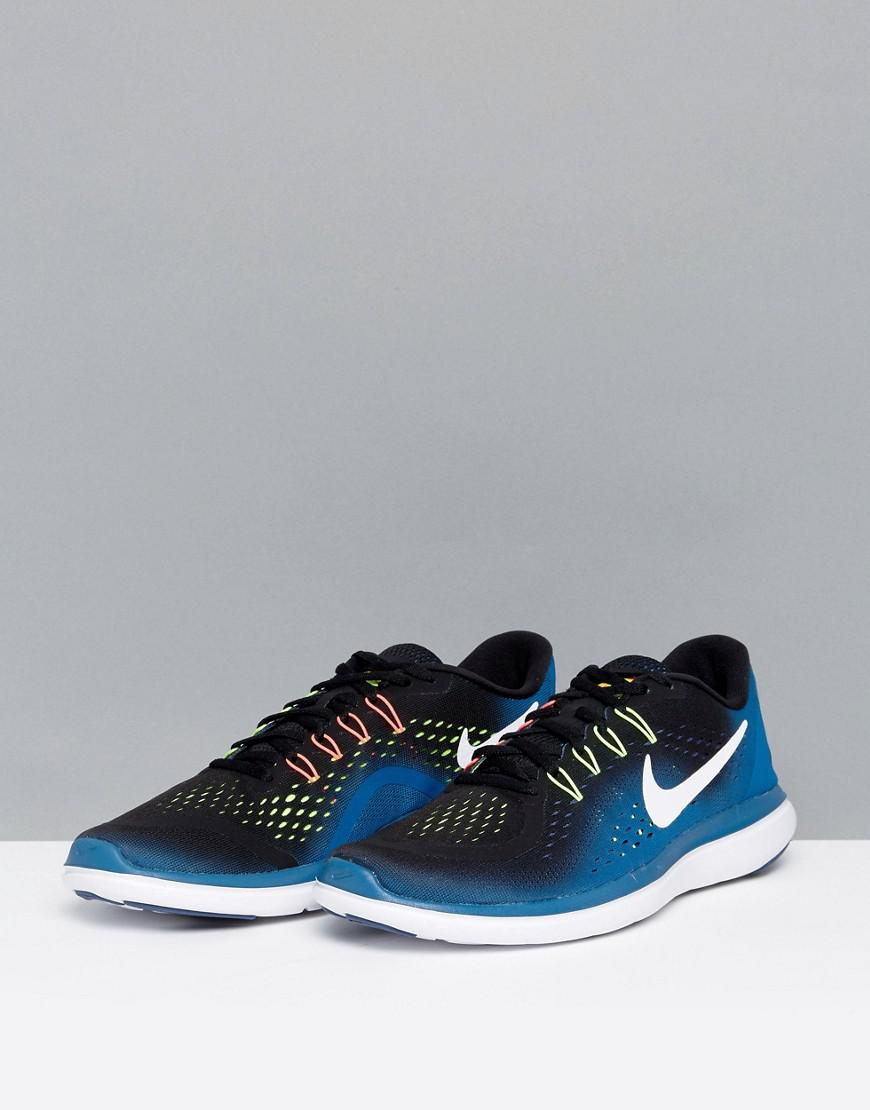 Nike Rubber Flex 2017 Trainers In Blue 898457-003 for Men