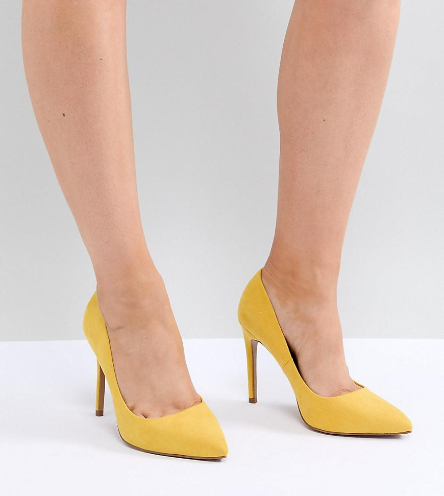 12472ef02c6f4 ASOS Paris Wide Fit Pointed High Heeled Pumps In Yellow in Yellow - Lyst
