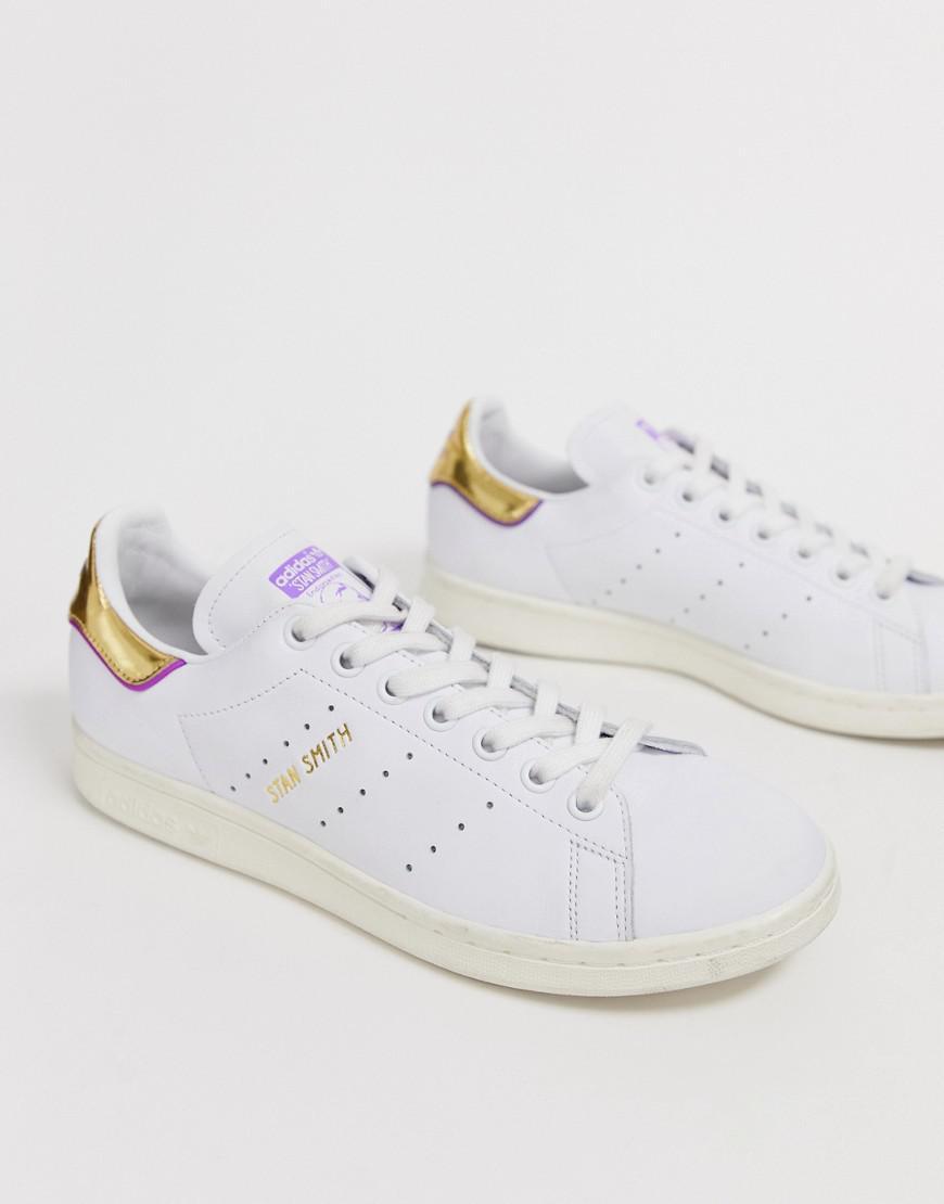 adidas stan smith gold white