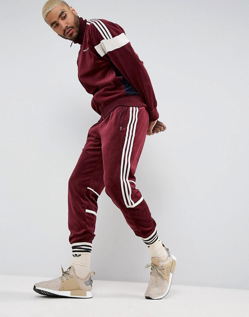 Sueño áspero juego abajo  Comprar > adidas originals velour joggers in red > Limite los descuentos  68%OFF   www.najmitraders.com