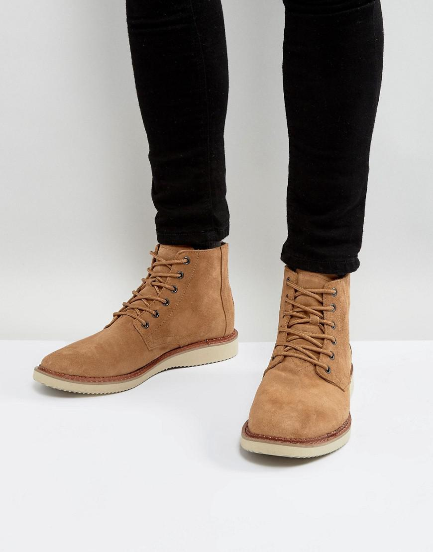 5486e06a6aa TOMS Porter Water Resistent Suede Lace Up Boots in Brown for Men - Lyst