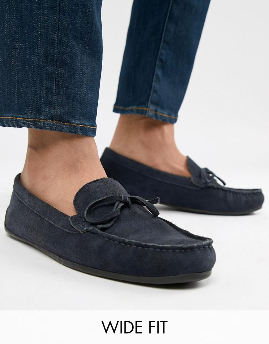 2b9de1a37eb KG by Kurt Geiger. Men s Blue Kg By Kurt Geiger Wide Fit Ringwood Driving  Shoes In Suede