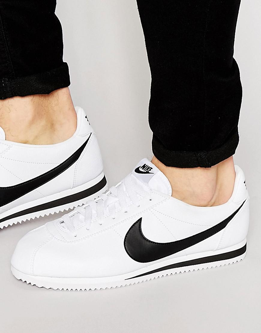 new product 34ee4 08e32 Nike. Men s Cortez Leather Trainers In White ...