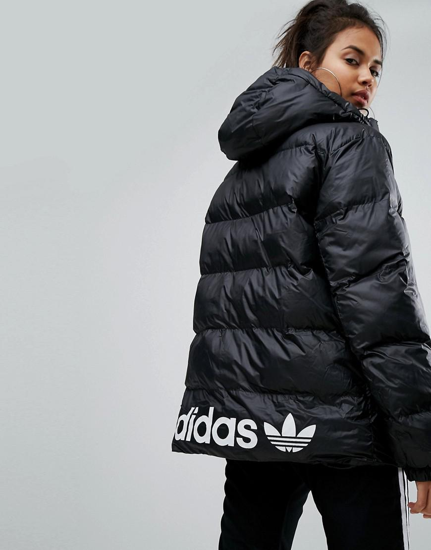 aaa184b0c1eb adidas Originals Originals Oversized Padded Jacket With Hood in ...