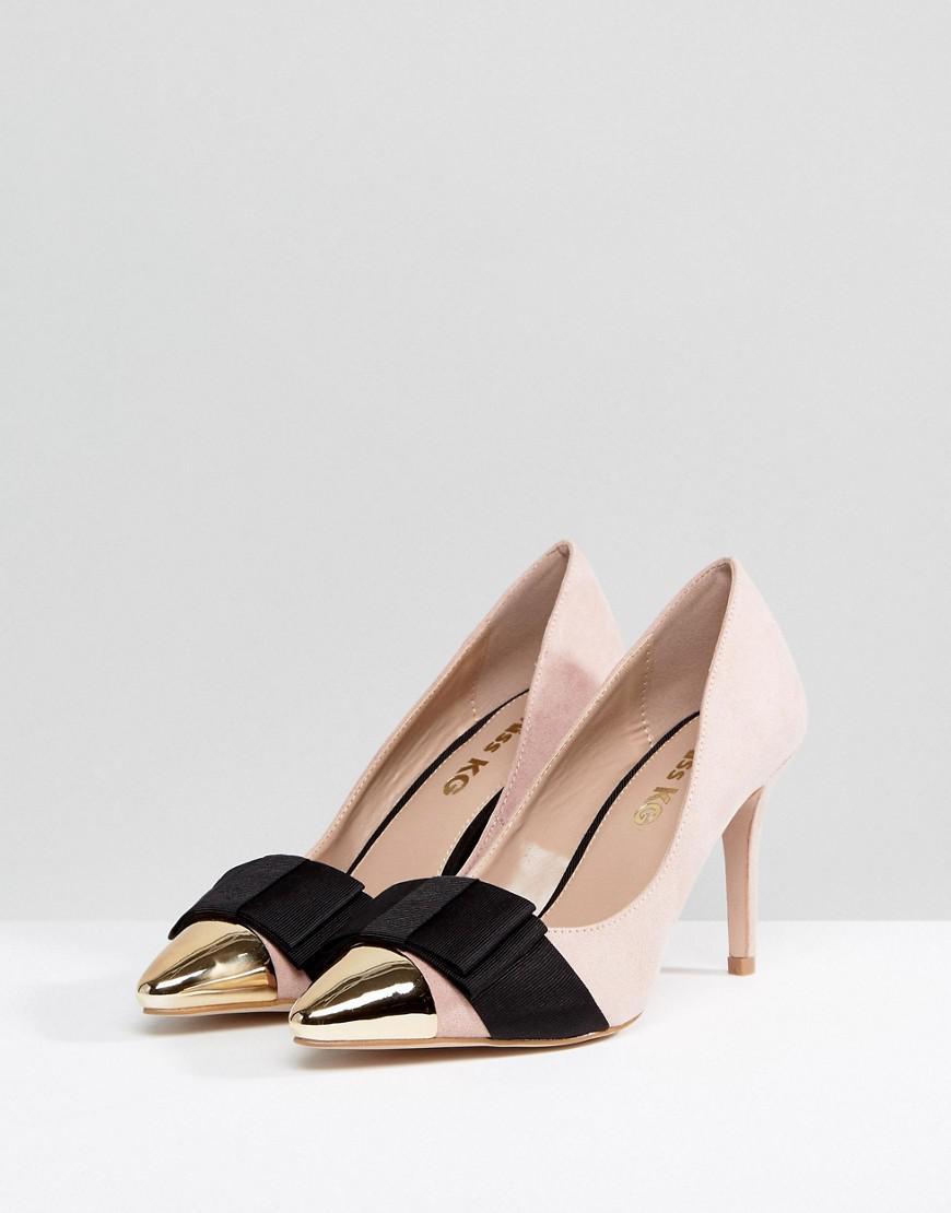 Lyst - KG by Kurt Geiger Kg Match Nude Flat Sandals in Natural