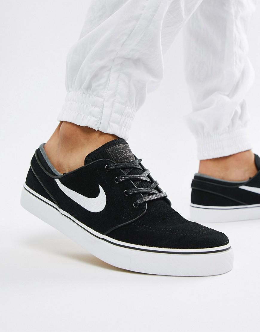 cb81765879458 Nike Zoom Stefan Janoski Suede Trainers In Black 333824-067 in Black for Men  - Lyst