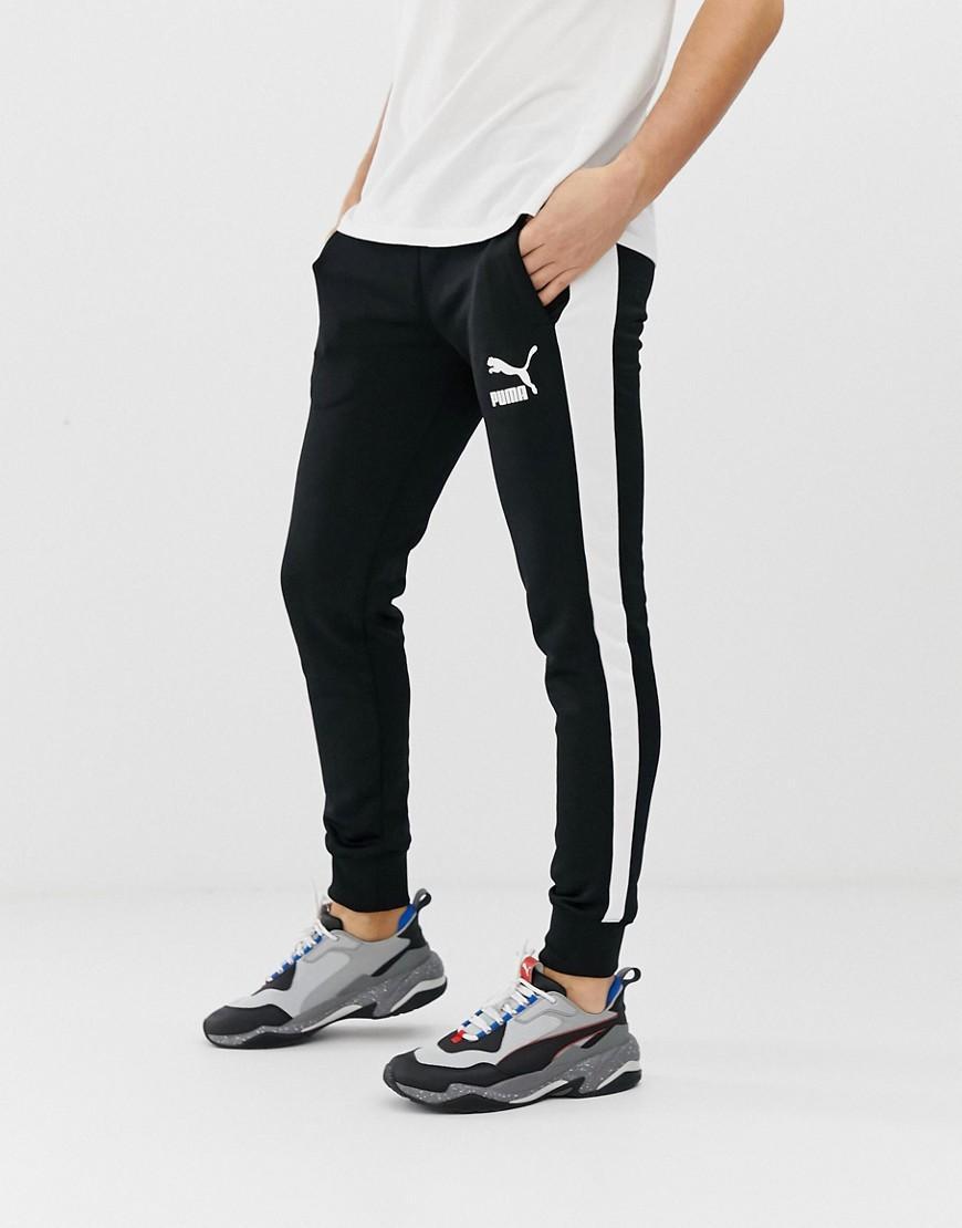 PUMA Cotton T7 Skinny Sweatpants In Black for Men - Lyst