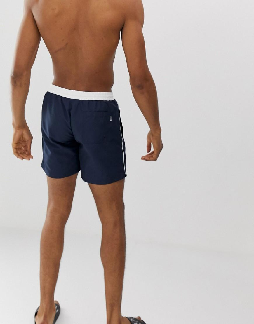 3ae0d8dc44 BOSS Star Fish Swim Shorts Exclusive In Navy in Blue for Men - Lyst