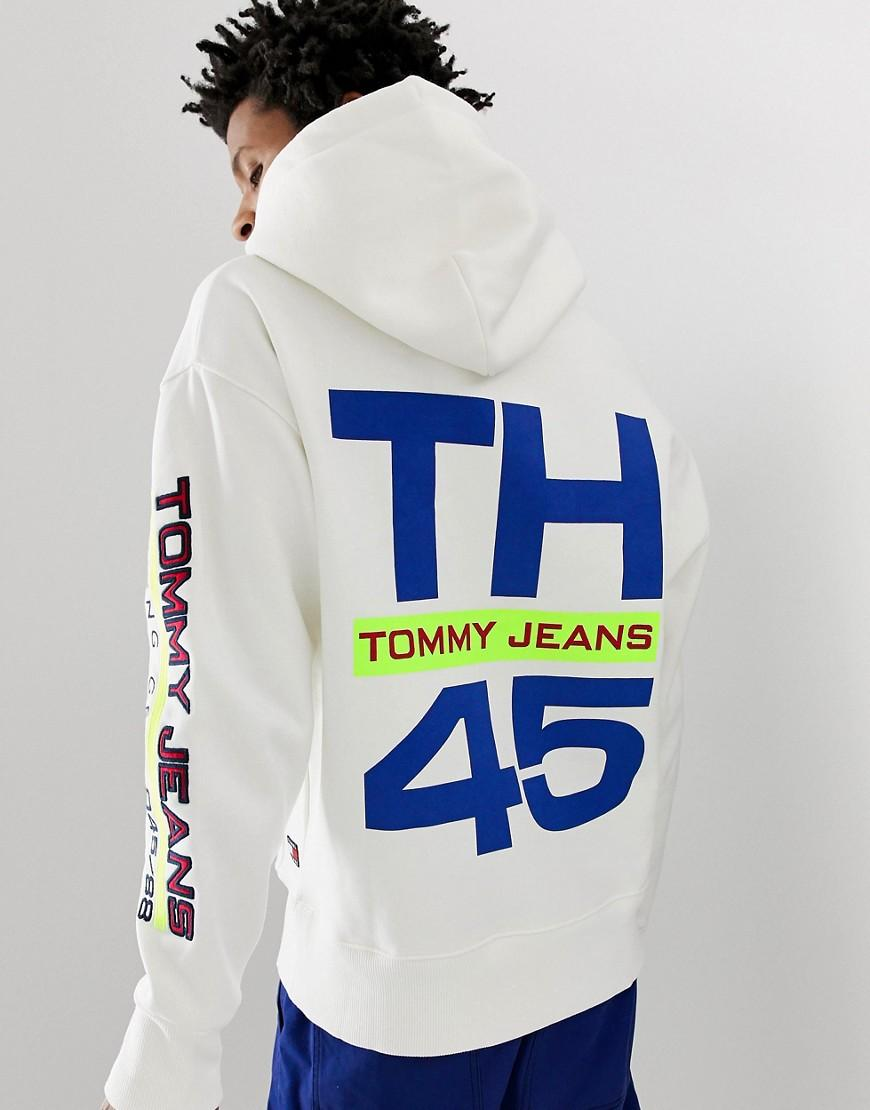 28ad44f0 Tommy Hilfiger 90s Sailing Capsule Back And Sleeve Logo Hoodie In White in  White for Men - Lyst