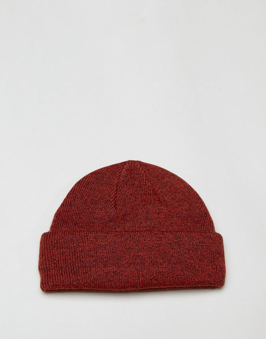 ce74268d5a6 Lyst - ASOS Mini Fisherman Beanie In Red Twist in Red for Men