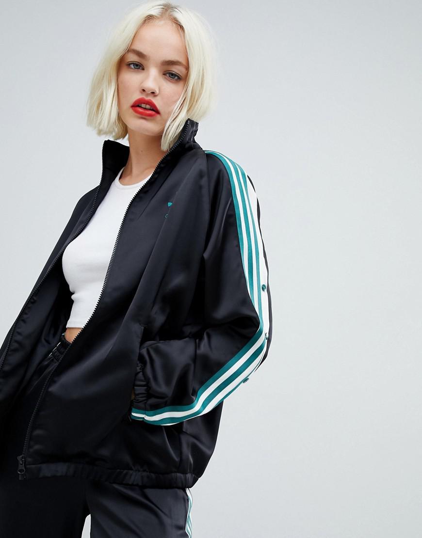 detailed look bd473 26561 adidas Originals Adidas Original Three Stripe Track Jacket With ...