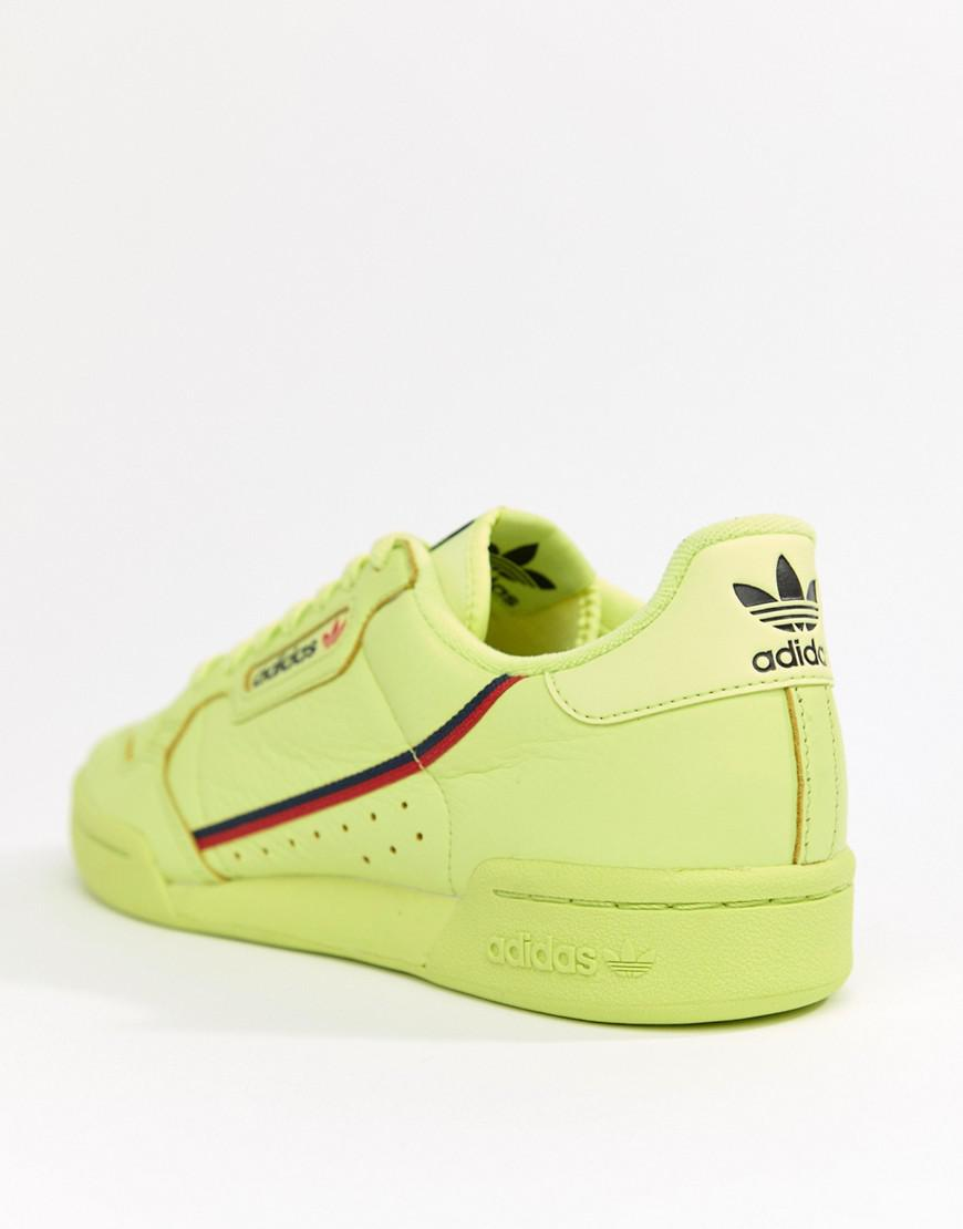 best cheap 36027 70faa Lyst - adidas Originals Continental 80s Sneakers In Yellow B