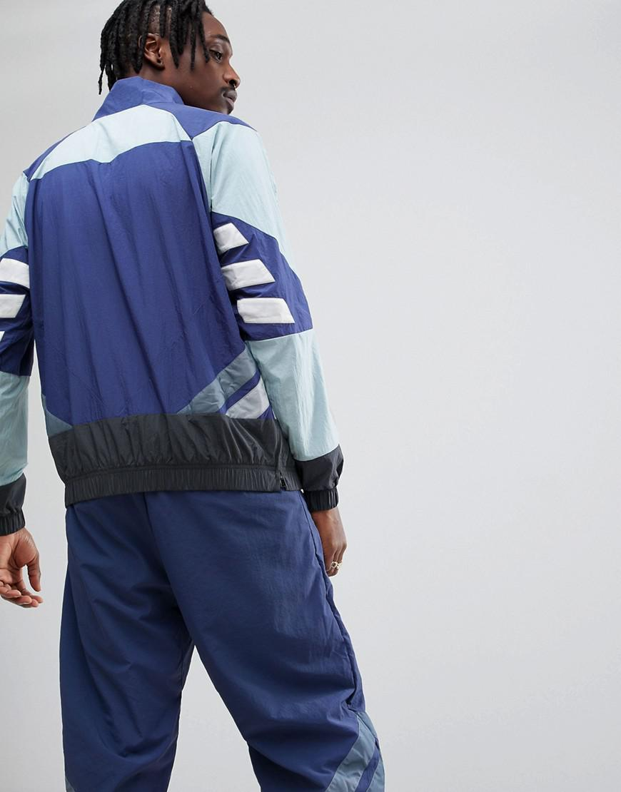 Adidas Originals Nova Half zip Track Jacket In Blue Ce4817 for men