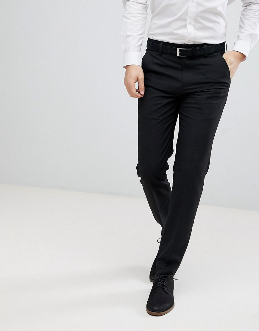 b23f31c1b616 French Connection Smart Slim Fit Pants in Black for Men - Lyst