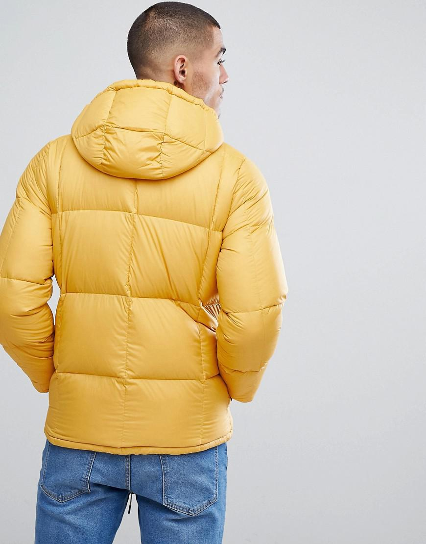 Abercrombie & Fitch Fleece Puffer Jacket Hooded In Yellow for Men