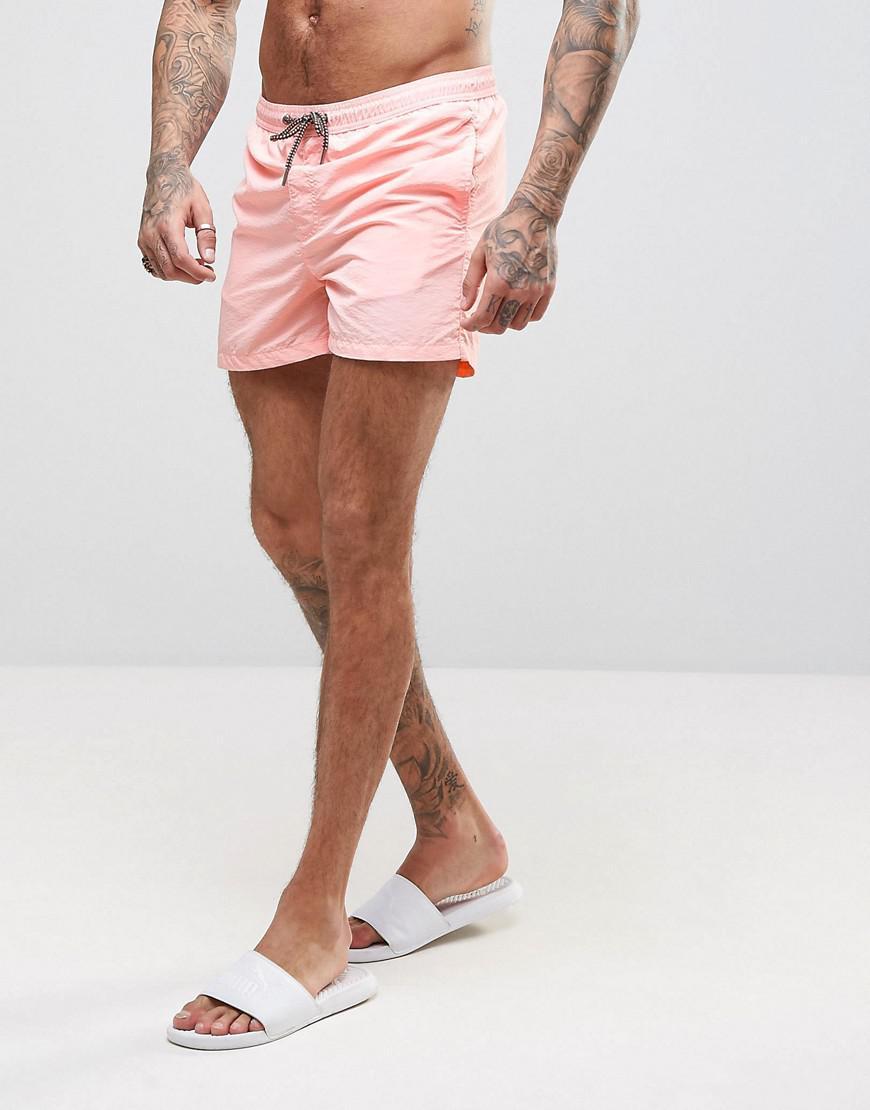 9df8b2e17f Jack & Jones Swim Shorts Sunset In Pink in Pink for Men - Lyst